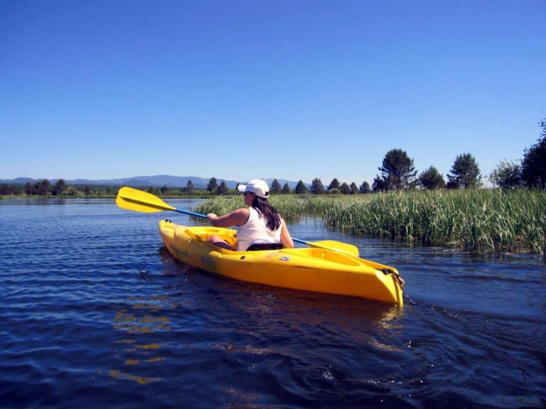 fun things to do in Oregon include kayaking near Bend.