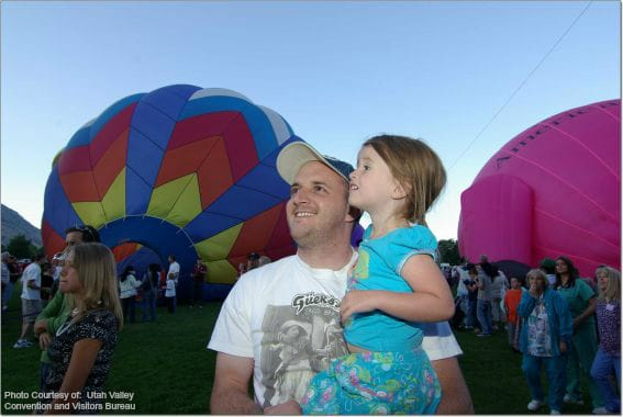Provo Balloon Fest  Photo Courtesy of:  Utah Valley Convention and Visitors Bureau