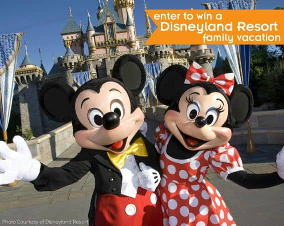Win a family vacation to Disneyland family vacation
