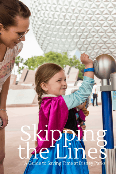 Skipping the lines and saving time at disney parks