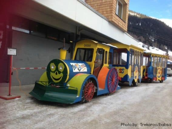 Train at Ski-School Arlberg, Austria