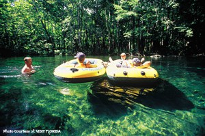 Tubing on the Ichetucknee River, Florida Photo Courtesy of: VISIT FLORIDA