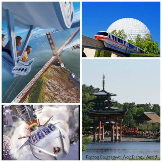 Walt Disney World Epcot Collage