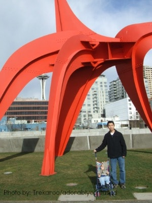 Kid-friendly Olympic Sculpture Park Seattle, Washington free family fun in seattle