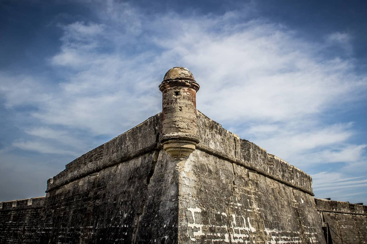 Castillo de san marcos in one of the great things to do in Florida with kids