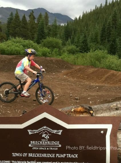 Kid-friendlypumptrackBreck, CO bike riding in breckenridge