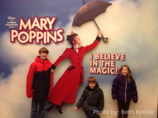 Mary Poppins on Broadway kid friendly broadway