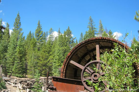 Preston Mill Ghost Town summer in breckenridge
