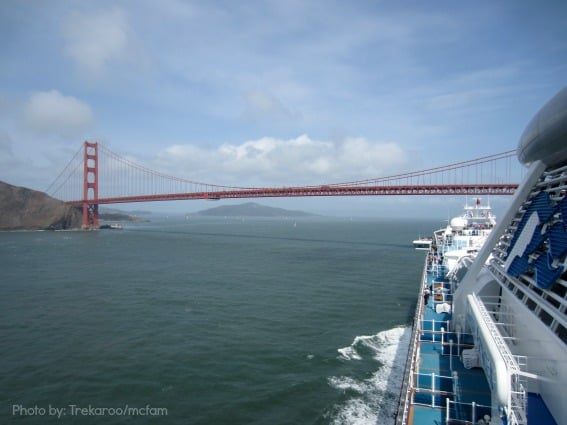 Trekaroo Princess Cruise Golden Gate Bridge Tips for cruising with kids