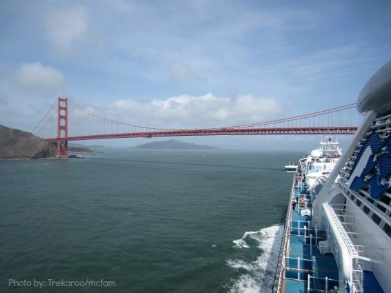 Family Cruising on Princess Cruises Golden Gate Bridge