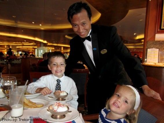 Family Cruising on Princess Cruises dinner