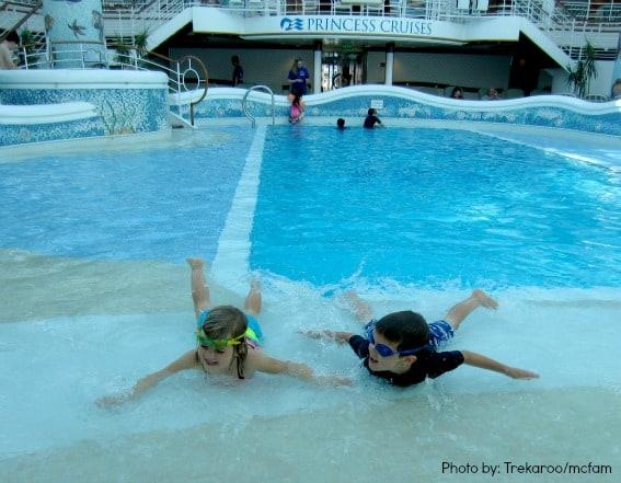Family Cruising on Princess Cruises kids in pool