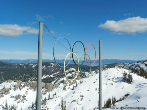 spring skiing squaw valley  Olympic Rings  Photo by: Trekaroo/pitstopswithkids