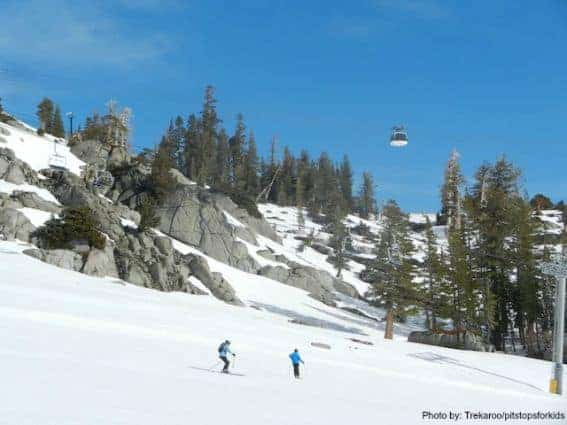 spring skiing squaw valley Squaw Gondola Photo by: Trekaroo/pitstopsforkids