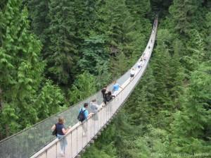Vancouver BC with kids Capilano Bridge