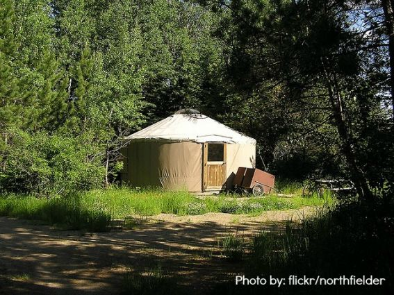 Camping without a tent:  Yurt Camping  Photo by: flickr/northfelder