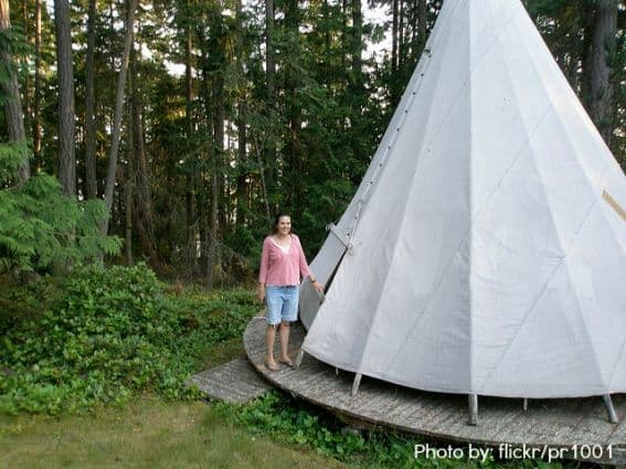 Camping without a tent: Teepee camping Photo by: Flickr/pr1001