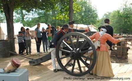 YVC Continental Army encampment  Photo courtesy  www.GreaterWilliamsburg.com