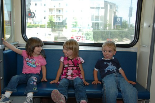 Riding the Lightrail with Kids in Calgary
