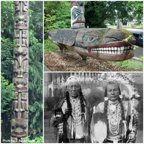 Top 10 Things for Families to do in Washington State: Washington Native American Culture  Photos by: E. Ashley Steel and Courtesy of: Library of Congress