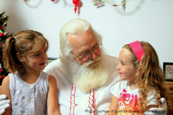 Santa and Kids Santa Clause Christmas Store Christmas in July