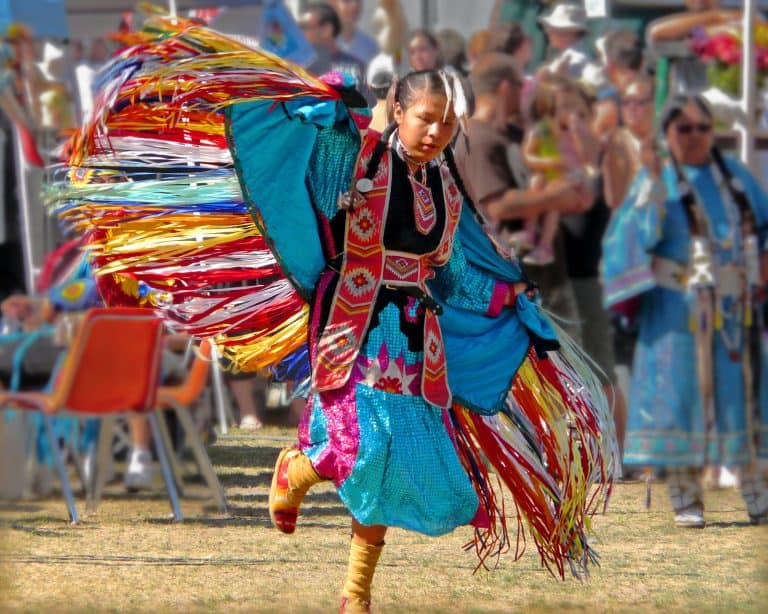 traditional native american dancer