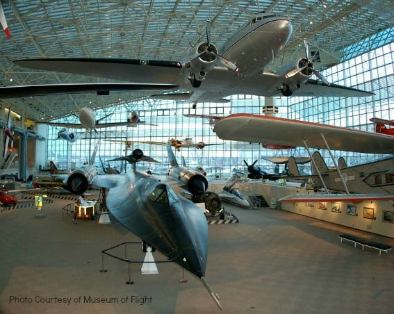 Top 10 Things for Families to do in Washington State: Museum of Flight Seattle, WA Photo courtesy of: Museum of Flight