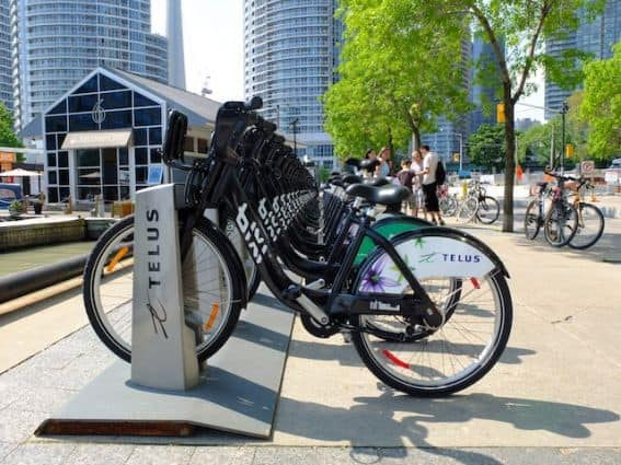 telus bikes get around the city