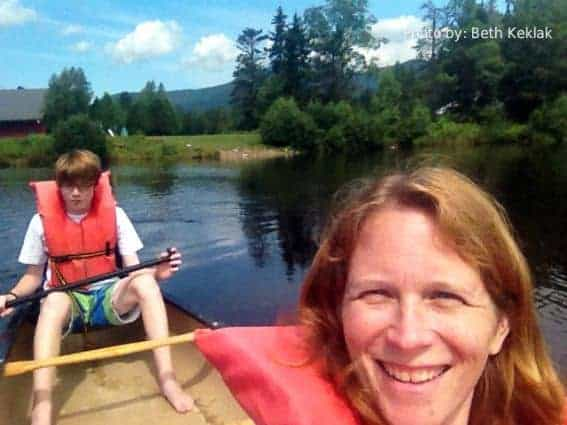 Family friendly activities: Canoeing on Corcoran Pond, Waterville Valley, NH