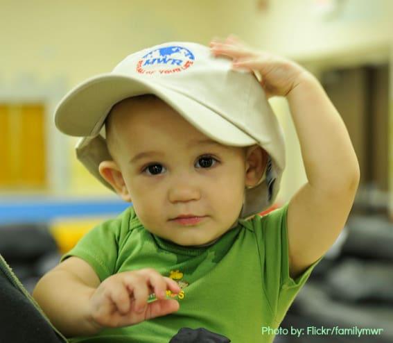 Military Family Travel Baby