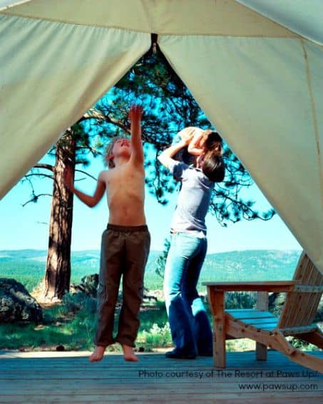 Glamping with Kids: PAWS UP, MT  Photo courtesy of: PAWS UP