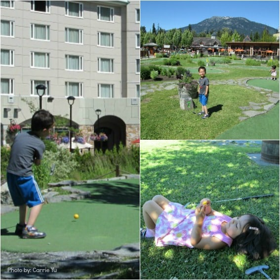 Kid-friendly mini golf in Whistler, BC  Photo by: Trekaroo/Carrie Yu
