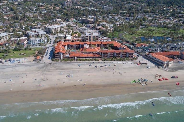 La Jolla Shores Hotel in the best family beachfront hotel in San Diego
