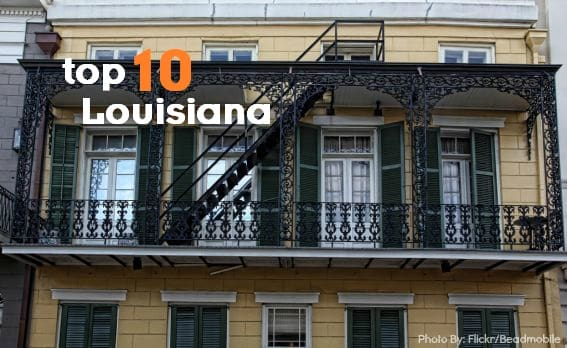top 10 louisiana