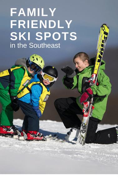 Family-friendly ski spots in the Southeast