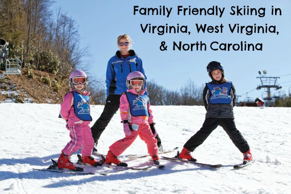 family friendly skiing Virginia, West Virginia, North Caroina