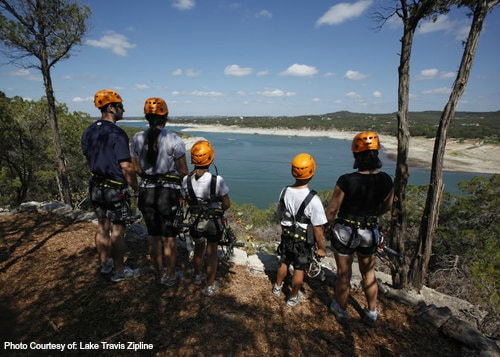 Top 10 Things for Families to do in Texas-Photo Courtesy Lake Travis Zipline