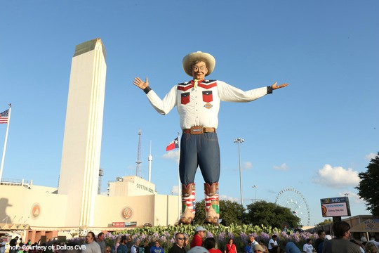 Top 10 Things to do with Families in Texas Big Tex- Photo Courtesy of Dallas CVB