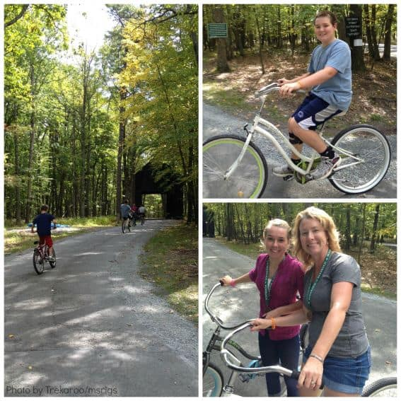 Biking at Woodloch Pines Resort in Hawley, PA Photo by: Trekaroo/msrigs