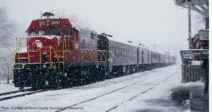 Blue Ridge snow train christmas atlanta
