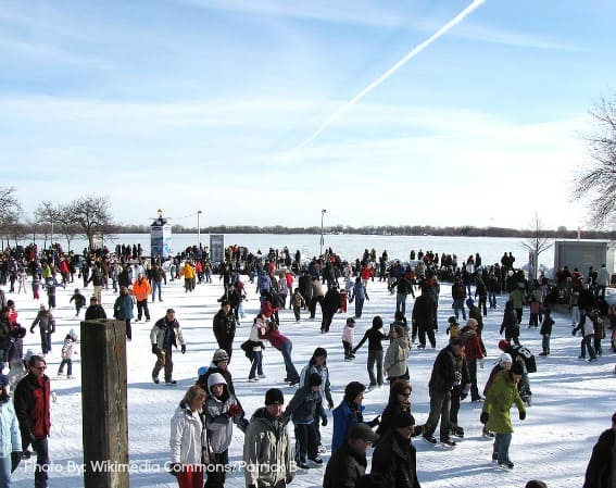 Toronto-Holidays-Harbourfront-Rink-Skating