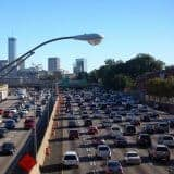 heavy traffic holiday road trip