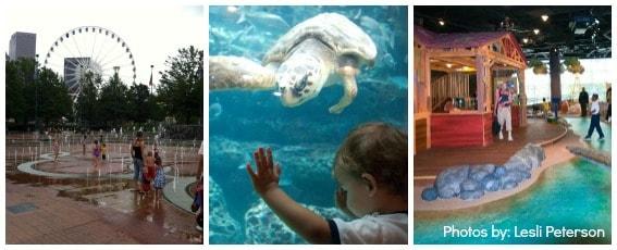 Atlanta Ga Tellus Olympic-Park Fernbank World-of-Coca-Cola Georgia-Aquarium