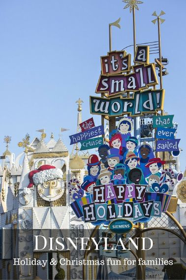 Christmas and Holiday fun for families at Disneyland and Disney California Adventure