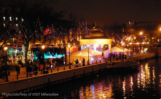 River Holiday Lights Festival in Milwaukee, WI