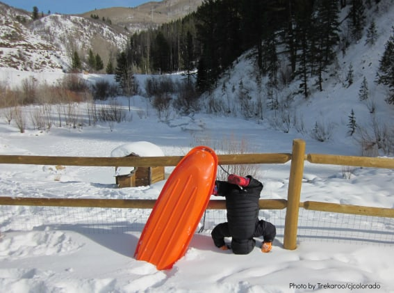 Kids Safe Snow Play Sledding