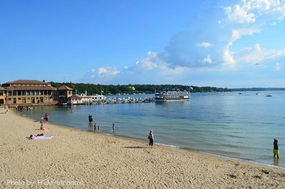 Lake Geneva Wisconsin Beach Boat Families