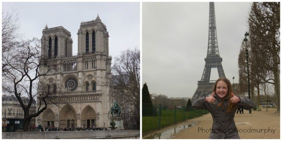 Paris with kids itinerary including the Eiffel Tower, Notre Dame Cathedral