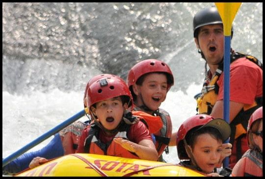 Rver rafting kids