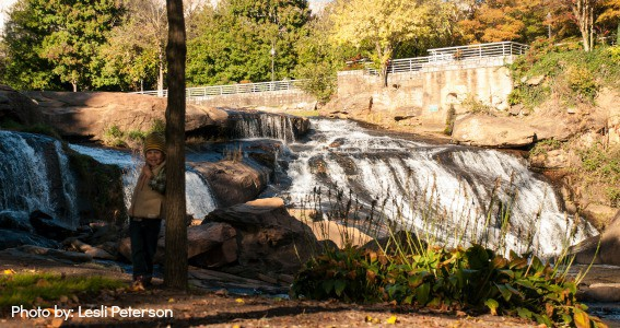 Reedy Falls Park Greenville SC South Carolina downtown